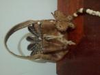 Bolsa artesanal em couro legítimo