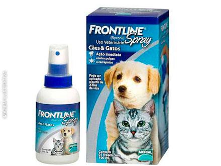 Anti Pulgas e Carrapatos Frontline Spray para Cães e Gatos de 100 mL Anti Pulgas e Carrapatos Frontline Spray para Cães e Gatos