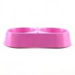 Comedouro Luxo Plástico Duplo Grande Rosa Mr Pet - 1700 mL