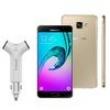 Novo Smartphone Samsung Galaxy A5 2016 Duos A510M / DS Dourado + Carregador Veicular Q - Touch Powerbank QT - 16 com 2 entradas
