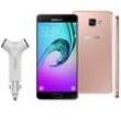 Novo Smartphone Samsung Galaxy A5 2016 Duos A510M / DS Rosê + Carregador Veicular Q - Touch Powerbank QT - 16 com 2 entradas USB