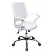 Cadeira para Escritório Delli Com Base Giratória Branco - Design Chair 9141999