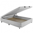 Cama Box Casal Universal Bau Molas Frontal Branco - 128X188 Casal Antigo 8732706