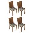 Conjunto 4 Cadeiras Lucy Madesa 7405270