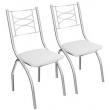 Conjunto Cadeiras Italia Cromada 2 Peças 2C018 Kappesberg - Branco 9086334
