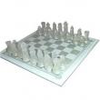 Jogo de Xadrez Tabuleiro em Vidro 8545671