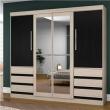 Guarda - Roupa Araplac Perola 4 Portas 6 Gavetas com Espelho 7990147