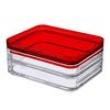 Porta Frios Duo Cristal com vermelho 7757631