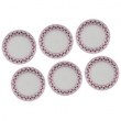 Conjunto de Pratos Fundos Biona Maia em Cerâmica 21 cm - 6 Peças 9029987