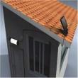 Luminária Solar para parede e teto 5 LEDS premium 1385 2300371
