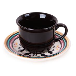 Xícara de Café Floreal Luiza 75 ml Preta Oxford 9594145