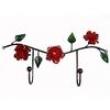 Cabideiro Rama Rosa Vermelha 02 Ganchos ( Cód LB - 595 ) 2475305