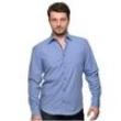Camisa Casual Masculina Regular Fit Manga Longa Vr Denim Azul Marinho 3470993