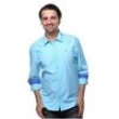 Camisa Casual Masculina Regular Fit Manga Longa Vr Denim Azul Royal 3470969