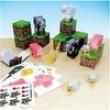 Minecraft Animal Mobs Paper Craft Kit 30Pçs Blocos Montar De Papel Original Mojang - Mls8 Br147 5400989