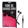 Fone De Ouvido Ziper Preto Para Motorola Moto X Force - Underbody 7917339