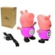 Caixa De Som Peppa Pig Bluetooth Com Entrada Para Cartão Sd Rosa