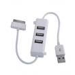Hub 3 Portas Usb Carregador E Dados Pc Para Ipad Iphone Ipod Branco 6747203
