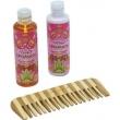 Kit Bi Set Orgânica Framboesa e Orquídea Hidratante + Sabonete Líquido + Pente de Bambu 9588128