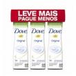 Kit Desodorante Aerosol Dove Original Comprimido 54g 3 Unidades 10635053