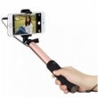 Pau De Selfie Stick Rock Plug Audio 3.5mm, iPhone, Galaxy - Dourado