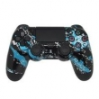 Controle Sem Fio - PS4 - Blue Splatter - Alta Performance - GG Controles