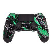 Controle Sem Fio - PS4 - Green Splatter - GG Controles