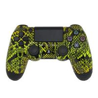 Controle Sem Fio - PS4 - Yellow Snake - Alta Performance - GG Controles