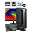 Mini Cpu Dual Core 4Gb Ram, Hd 500Gb, Wifi C / Monitor + Kit 9185340