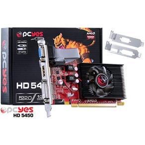 Placa De Video Pcyes Amd Radeon Hd 5450 1gb Ddr3 64 Bits Lp Incluso Dvi - Hdmi - Vga - Ps54506401d3lp