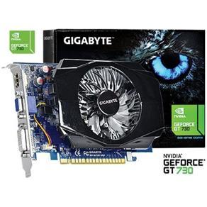 Placa De Vídeo Vga Geforce Gt 730 2Gb Ddr3 128 Bits Vga / Dvi / Hdmi Pciexp 2.0 Gv - N730 - 2Gi - Gigabyte