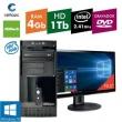 Computador + Monitor 19,5`` Intel Dual Core 2.41GHz 4GB HD 1TB DVD com Windows 10 Certo PC FIT 046
