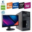 Computador + Monitor 19,5`` Intel Dual Core 2.41GHz 4GB HD 500GB DVD Certo PC FIT 018
