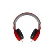 Fone de Ouvido DL - FN005 Vermelho, Linha Citysound, Design Arrojado com fones giratórios