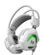 Fone de ouvido - Zhuo GS200 devido fone de ouvido com microfone branco