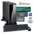 Mini Computador Intel Dual Core 4Gb Hd 500Gb Windows 7 Serial Preto 3Green Triumph Business Desktop