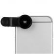 Conjunto de lentes especiais para celular Fish Eye, Macro e Wide LP 3001 ( Preto )