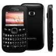 Celular Desbloqueado Alcatel OT 3000 Preto com Teclado Qwerty, Câmera VGA, MP3 e Rádio FM - Claro