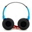 Fone de Ouvido com Microfone Headphone Stereo Exbom HF - 520 Preto com Azul