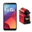 Smartphone LG G6 Astro Black com 32GB, Tela 5.7, Android 7.0, 4G, Câmera 13MP e Quad - Core + Cafeteira Nespresso Inissia Prepar