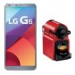 Smartphone LG G6 Platinum com 32GB, Tela 5.7, Android 7.0, 4G, Câmera 13MP e Quad - Core + Cafeteira Nespresso Inissia Preparo d