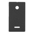 Capa Lumia 435 / Dual Policarbonato Texturizado Antigordura - Husky - Preto