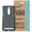 Capa + Película Vidro Asus Zenfone 2 / Deluxe Silicone TPU Premium - Husky - Fumê