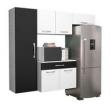 Cozinha Compacta Somopar Camila com 6 Portas e 1 Gaveta branco