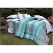 Kit Cobre - leito Queen Vida Bela Oasis 200 Fios com 2 Porta - Travesseiros - Kacyumara azul turquesa