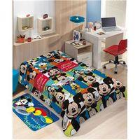 Manta Infantil Raschel Disney Mickey Friends 100% poliéster â ? ? Jolitex azul royal