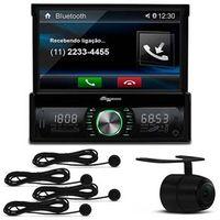 Multimídia Quatro Rodas MTC6612 7 Polegadas USB Bluetooth + Câmera Ré + Sensor Estacionamento Preto