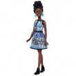 Boneca Barbie Fashionista Blue Brocade Petite Mattel