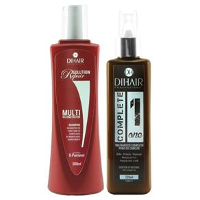DiHair Shampoo ( 300ml ) e Leave - in ( 220ml )