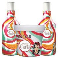 Divine Curls Inoar - Kit de Shampoo Low Poo 250ml + Condicionador 250ml + Máscara 450g Kit